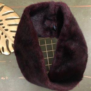 Parkhurst Faux Fur Oxblood Snood Infinity Scarf